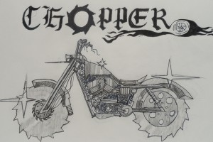 "Composite sketch ""chopper"" Zach Fleming, Drawing"