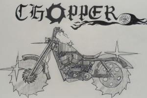 "Composite sketch ""chopper"" Zach Fleming, Drawing"