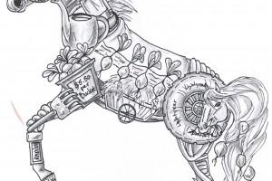 "Composite sketch ""Horseradish"" Maria Ciola, Drawing"